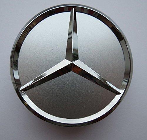 Felgendeckel Mercedes Benz 4 x 75mm Nabendeckel Radnabenkappen Radkappen Felgenkappen Nabenkappen Wheel Caps Silber/Chrom