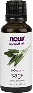 Now Essential Oils, Sage Oil, Normalizing Aromatherapy Scent, Steam Distilled, 100% Pure, Vegan, 1-Ounce