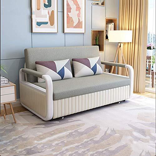 N/Z Home Equipment Nordic Fabric Sofa Cabrio Bett Faltbares Loveseat Schlafsofa Wohnzimmermöbel Multifunktionales Futon Herausziehbares bequemes Kissen mit Aufbewahrungsfunktion Braun 1,93M
