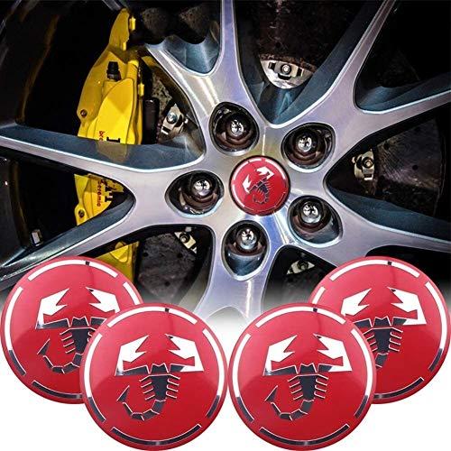 YXZLY 4 Stück 56mm Auto-Rad-Mitte-Kappen-Hub-Abdeckungs-Naben-Center Caps Auto Dekoration Fit for car Styling Fit...