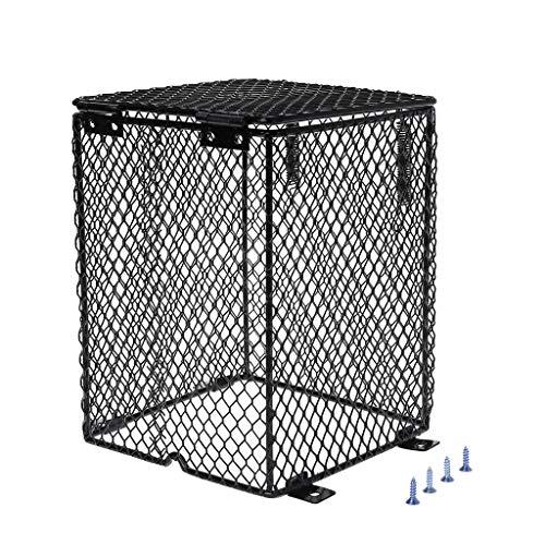 Yanhonin - Protector de calentador de reptil, altavoz de lámpara calefactora, cubierta para lámpara de malla metálica para jaula (1#)