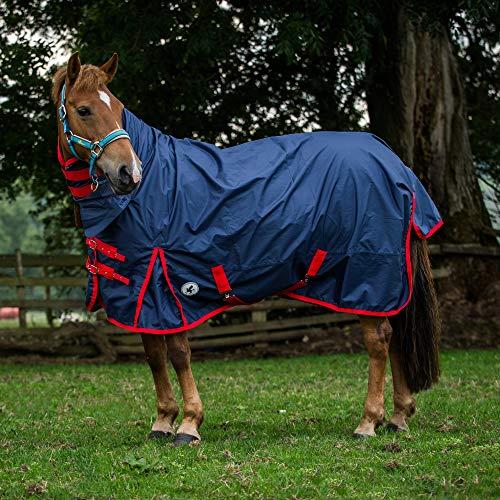 Derby House - Coperta per cavalli combinata, ultraleggera, Navy, 6ft3