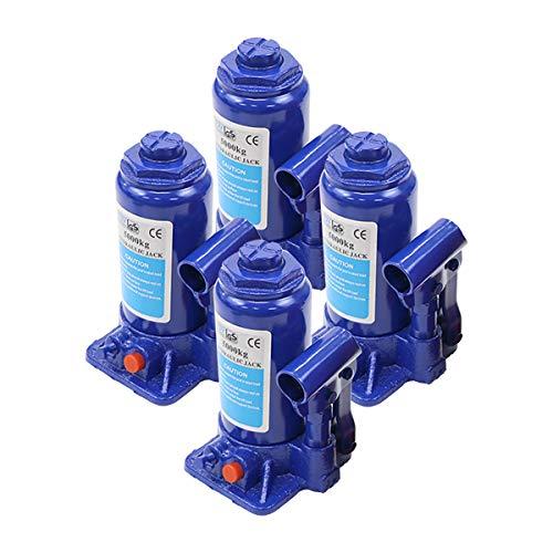 選べる2カラー 油圧式 ボトルジャッキ 定格荷重約5t 約5.0t 約5000kg 4台セット 4個 油圧ジャッキ だるまジャッキ ダルマジャッキ ジャッキ 手動 安全弁付き ジャッキアップ タイヤ交換 工具 小型 軽量 車載用 車 整備 修理 メンテナン