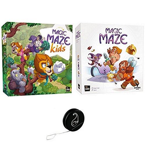 Juego de 2 juegos VF: Magic Maze Kids + Magic Maze + 1 Yoyo Blumie.