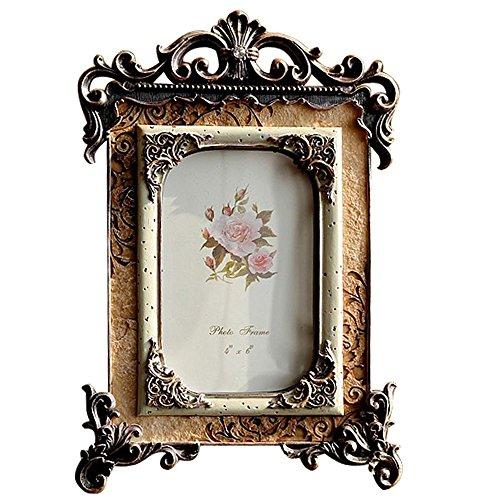 Giftgarden Marco de Fotos de Estilo Vintage Europeo Artículo Lujoso Decoración Barroco Artesanía Clásica 10x15cm