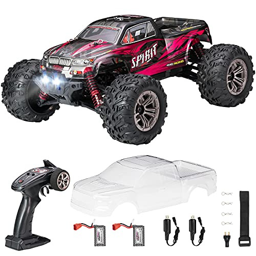 Hobby RC Cars,FLYHAL 9135 Pro Remote Control Car RC Cars for Adults 30+MPH 45km/h 4WD Professional IPX4 Waterproof 1:16 Scale Super Fast RC Cars Moster RC Trucks 4x4 Off Road 2 Batteries