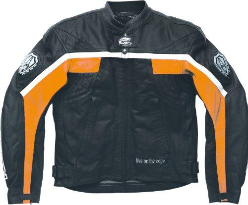 ARLEN NESS LJ-3178-AN Leren jas 52 EU zwart/oranje/wit.