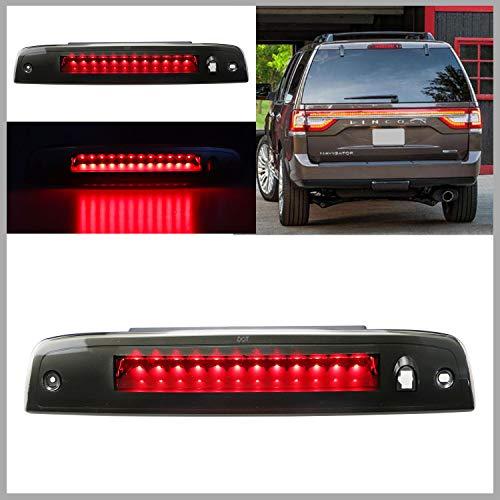 Sanzitop LED 3rd Brake Light Assembly High Mount Brake Light Rear Tail Light Fit for 2003-2016 Ford Expedition / Lincoln Navigator 923259 7L1Z13A613A 6L1Z13A613AA (Black Housing Smoke Lens)