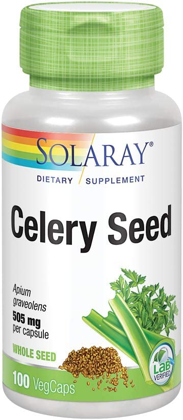 Solaray Celery Seed 505mg Cardiovascular Water New Free Shipping Liver Healthy Popular product