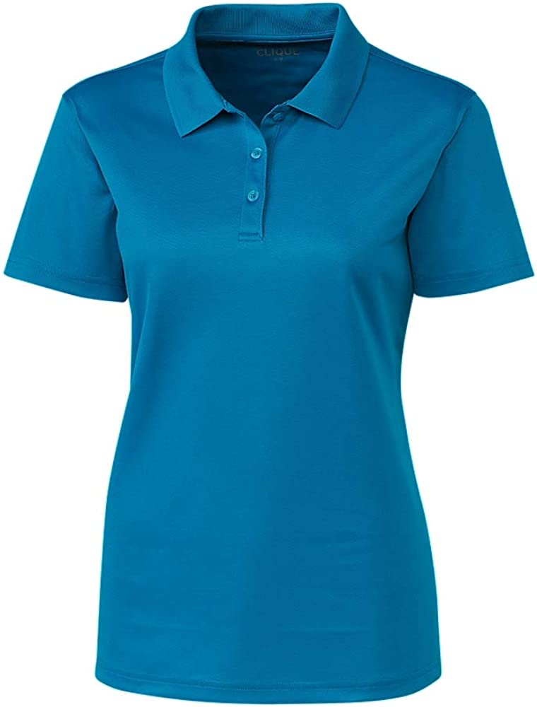Clique LQK00063 Ladies Spin Lady Pique Polo Shirt, Ocean Blue - XXL