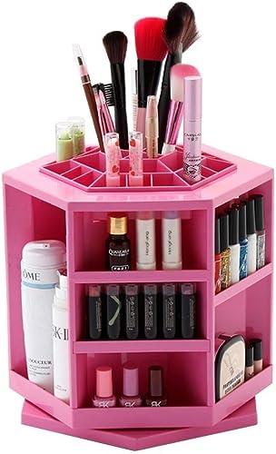 KJRJSN Organisateur de maquillage rougeatif, Boîte de présentoir de parfums cosmétiques de bijoux à 360 degrés, grande capacité de maquillage pour rangeHommest pour commode, chambre à coucher, salle de bai