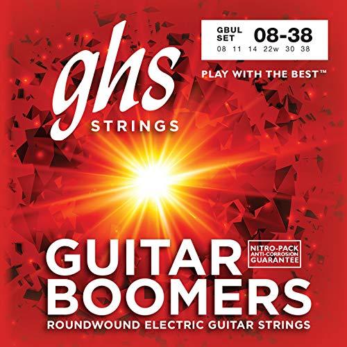 ghs GBUL - Juego de cuerdas para guitarra eléctrica, 8-38 - GHS: Cuerdas guitarra eléctrica gbul