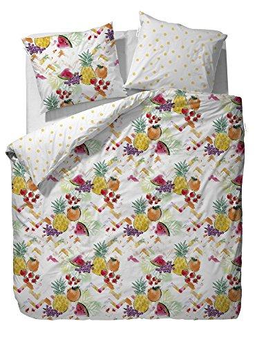 Covers & Co Frutas Multi Parure de lit coton renforcé, Coton, multicolore, 135 x 200 cm / 80 x 80 cm