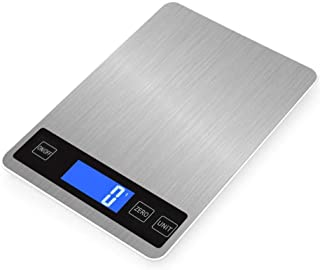 ANEAR Cooking Scales 5KG Kitchen Weighing Digital USB Rechargeable Stylish Ultra Slim Design with LCD Backlit Tare Functio...