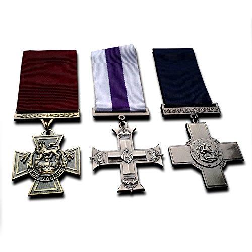 Freecrows Ltd. 3X Medaille Gruppe Victoria Kreuz, Militär Kreuz & George Kreuz britische militärische Medaillen Replik