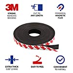 Magnetic tape, 15 feet magnet tape roll (1/2'' wide x 15 ft long), with 3m strong adhesive backing. Perfect for diy, art projects, whiteboards & fridge organization 9 high quality magnet tape: objects weighing up to 1. 5 oz (~50 gram) can be held easily with a short strip. Add several or longer strips for heavier things. 3m strong adhesive backing: premium 3m adhesives are made for sticking quickly and firmly while last for a long time. Ideal for clean, smooth and uniform surfaces. 15 feet magnet tape: big value packed into a strong zip bag for easy storage. Use short strips or for heavier items choose more strips to hold anything in place!