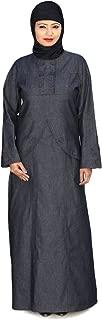 MyBatua Blue Denim Abaya Muslim Women's Formal Wear Burqa Dress AY-126