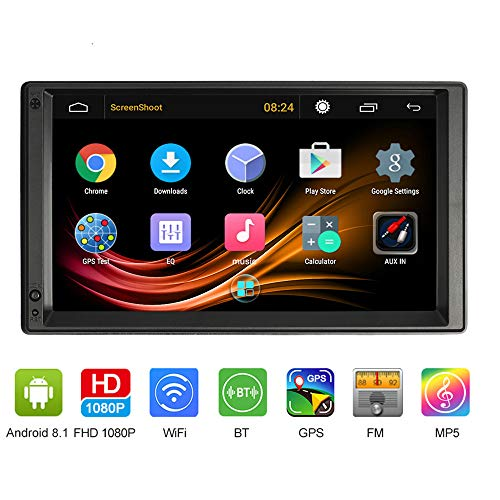 Vislon 17,8 cm Autoradio Doppel-DIN Autoradio MP5 Player Radio Universal HD Touch Screen 1080P Autoradio GPS Navigation Multimedia Entertainment mit BT WiFi AM/FM