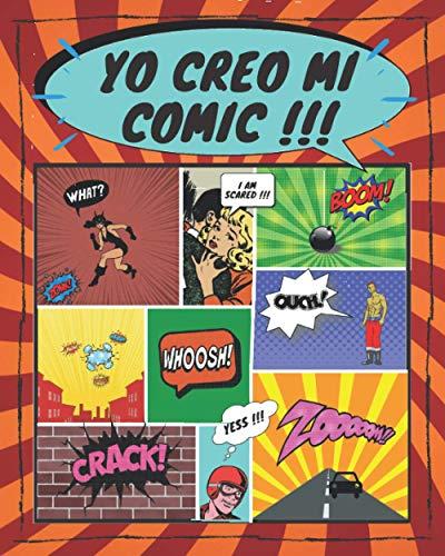 yo creo mi comic: 💥100 plantillas en blanco para adultos, adolescentes y niños💥 formato largo | con onomatopeya