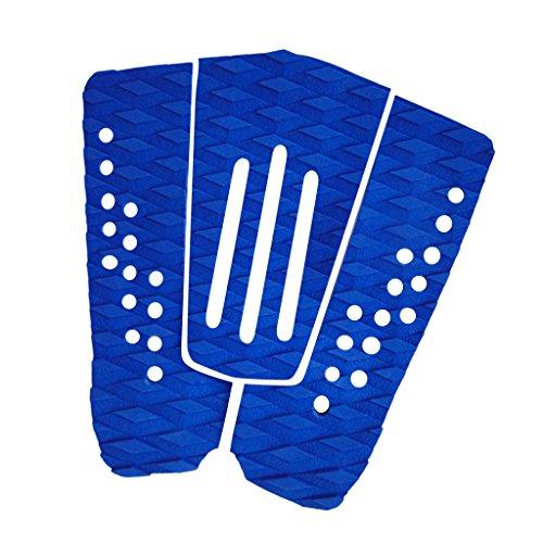 Homyl 3 Piezas/Set Premium Blue EVA Surfboard Traction Pad Tail Pads Surfing Surf Deck Grip Accesorios Deportes Acuáticos