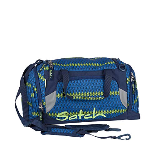 SATCH Blue Boshi Cabas de Fitness, 50 cm, 25 liters, Bleu (Crochet Pattern Blue)