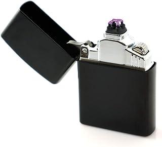Bólido 【日本ブランド/保証付】プラズマライター 電子ライター USBライター 無炎 防風 ガス不要 オイル不要 4極点火 ダブルアーク (ブラック)