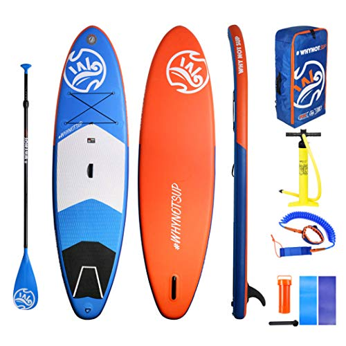 Hifun Inflatable Stand Up Paddle Board 11'2''×33''×6'' with SUP Accessories Waterproof Bag