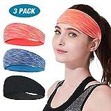 Stirnband Damen Sport 3er Pack, LATTCURE Stirnband, Haarband, Damen Kopfband, Kopfbedeckung, Turban...