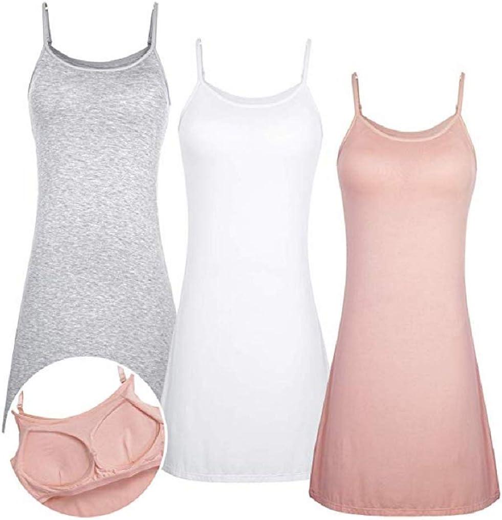 Women Full Slips Modal Max 52% OFF Cotton Blend Nightw Dress V Straight Max 70% OFF Neck