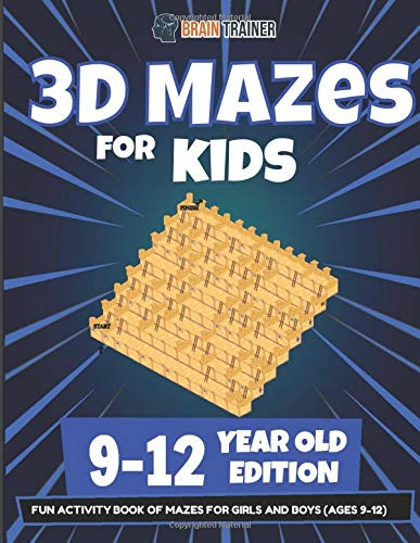 3D Mazes for Kids 9-12 Year Old Edition - Fun Activity Book Of Mazes for Girls and Boys (Ages 9-12)