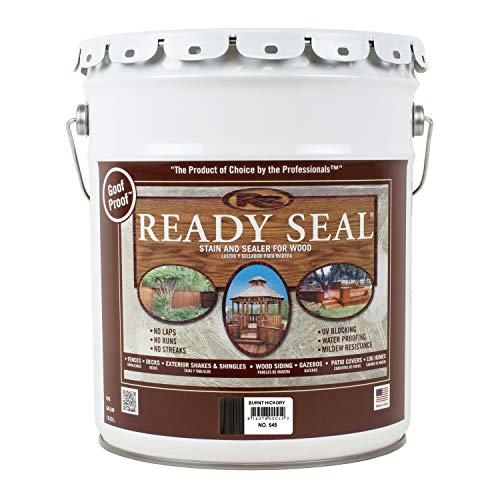 Ready Seal 545 Exterior Stain and Sealer for Wood, 5-Gallon, Burnt Hickory