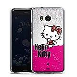 DeinDesign Silikon Hülle kompatibel mit HTC U11 Hülle transparent Handyhülle Hello Kitty Fanartikel Kawaii