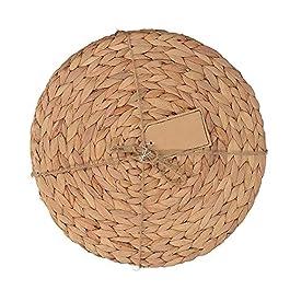 30cm en jacinthe d'eau Weave Sets de table, la main Naturel rond en rotin Paille Sets de table Isolation Pad