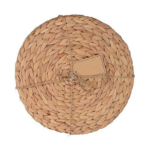 30 cm en Jacinthe d'eau Weave Sets de Table, la Main Naturel Rond en rotin Paille Sets de Table Isolation Pad