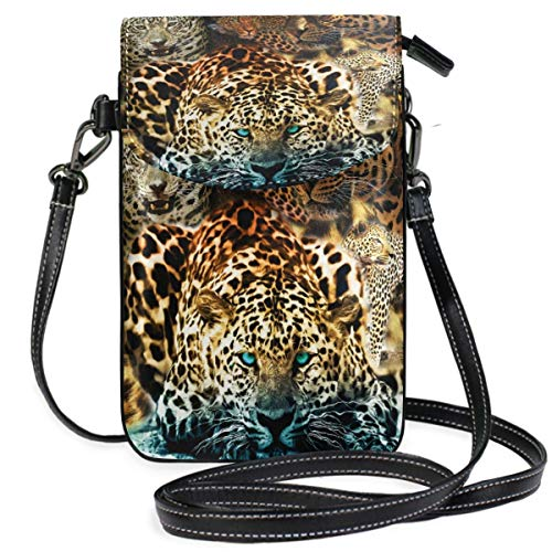 XCNGG Leopard Cell Phone Purse Wallet for Women Girl Small Crossbody Purse Bags