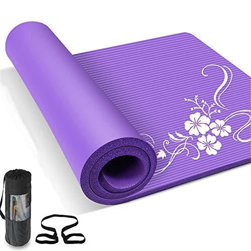 Gyfhmy yogamat, antislip, extra dik, 20 mm, lang en breed dan andere matten, bekleding met hoge dichtheid, milieuvriendelijk, voor sport, pilates, met draagtas