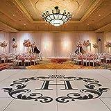 LJQTA Wall Sticker Wedding Decoration Wedding Dance Floor Vinyl Decal Removable Custom Initial Letter Stickers Wedding Monogram Vinyl Mural