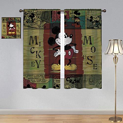 ARYAGO Energieeffizienter wärmeisolierter Verdunkelungsvorhang, Micky-Maus-Vorhänge, Film, Fenstervorhang, Stoff für Kinderzimmer, 140 x 160 cm