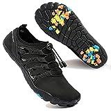 Zapatos de Agua para Hombre Transpirable Secado Rápido de Surf Escarpines Antideslizantes Calzado de Deportes Acuáticos Buceo, Negro, 45 EU