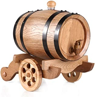 yunyu Baril de chêne, Seau de Stockage de vin Vieilli en chêne Vintage avec Distributeur de Robinet pour vin, spiritueux, ...