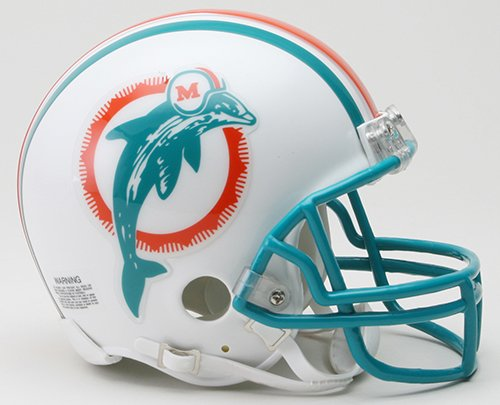 Miami Dolphins 1980-96 Throwback NFL Riddell Replica Mini Helmet