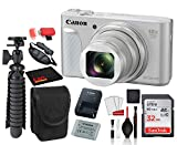 Canon PowerShot SX730 HS Digital Camera (Silver) (1792C001) with Accessory Bundle Package + SanDisk 32gb SD Card + Camera Case + 12' Tripod + More