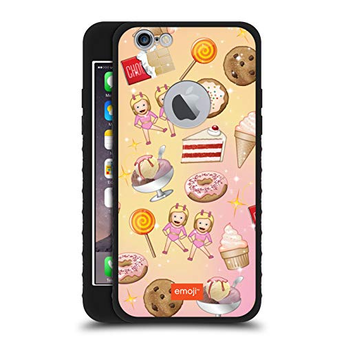 Head Case Designs Ufficiale Emoji Dolcetti Pattern Cover Blindata Lite Nera Compatibile con Apple iPhone 6 / iPhone 6s