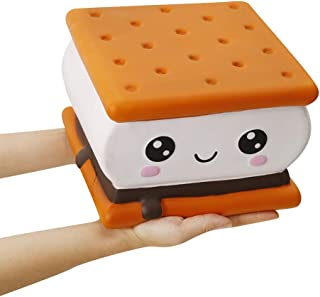 Anboor 7.9 Inches Squishies Jumbo Smore Kawaii Soft Slow Rising Giant Food Squishies Stress Relief Toys