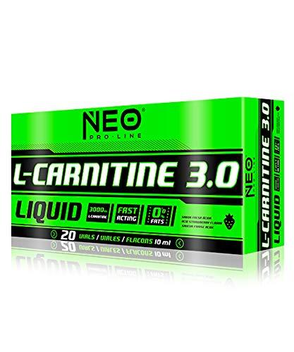 L-CARNITINE 3.0 LIMA-LIMON 20 VIALES-10 ml - Suplementos Alimentación y Suplementos Deportivos – NEO PRO-LINE