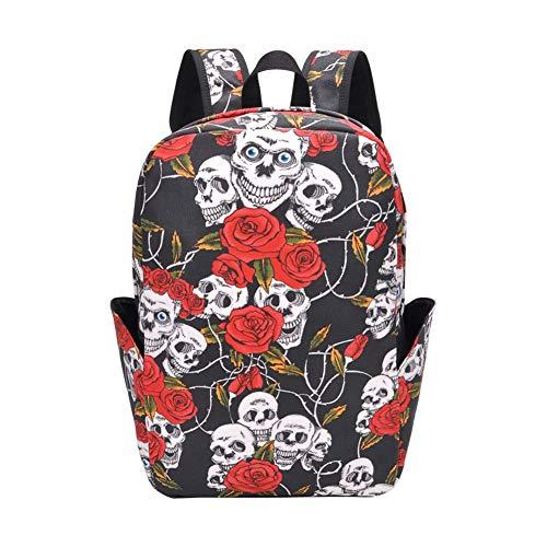 Vrije tijd reizen rugzak, duurzaam canvas dames rugzak laptop computer tas bedrukte schooltas rugzak