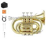 eastar tromba bb standard student tromba strumento a fiato concustodia, bocchino, guanti bianchi