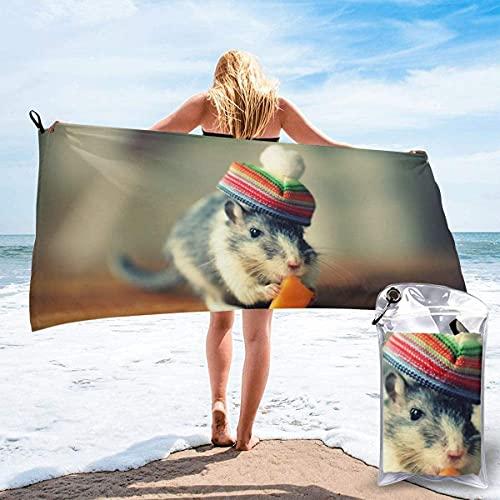 """Ratón con Gorra Toalla de Playa Ultra Suave 27.5 """"X 55"""" Portátil Absorbente de Agua Microfibra múltiple Toalla de Playa sin Arena Manta para Viajes Piscina Natación Baño Camping Yoga"""
