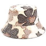IRYNA Coreano Jacquard Plush Hat Fisherman Hat Coral Fleece...