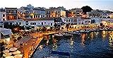 N\A Puzzle Jigsaw Rompecabezas para Adultos como Regalo DIY Spain Island Evening Marinas Boats Houses Menorca Rompecabezas De 500 Piezas